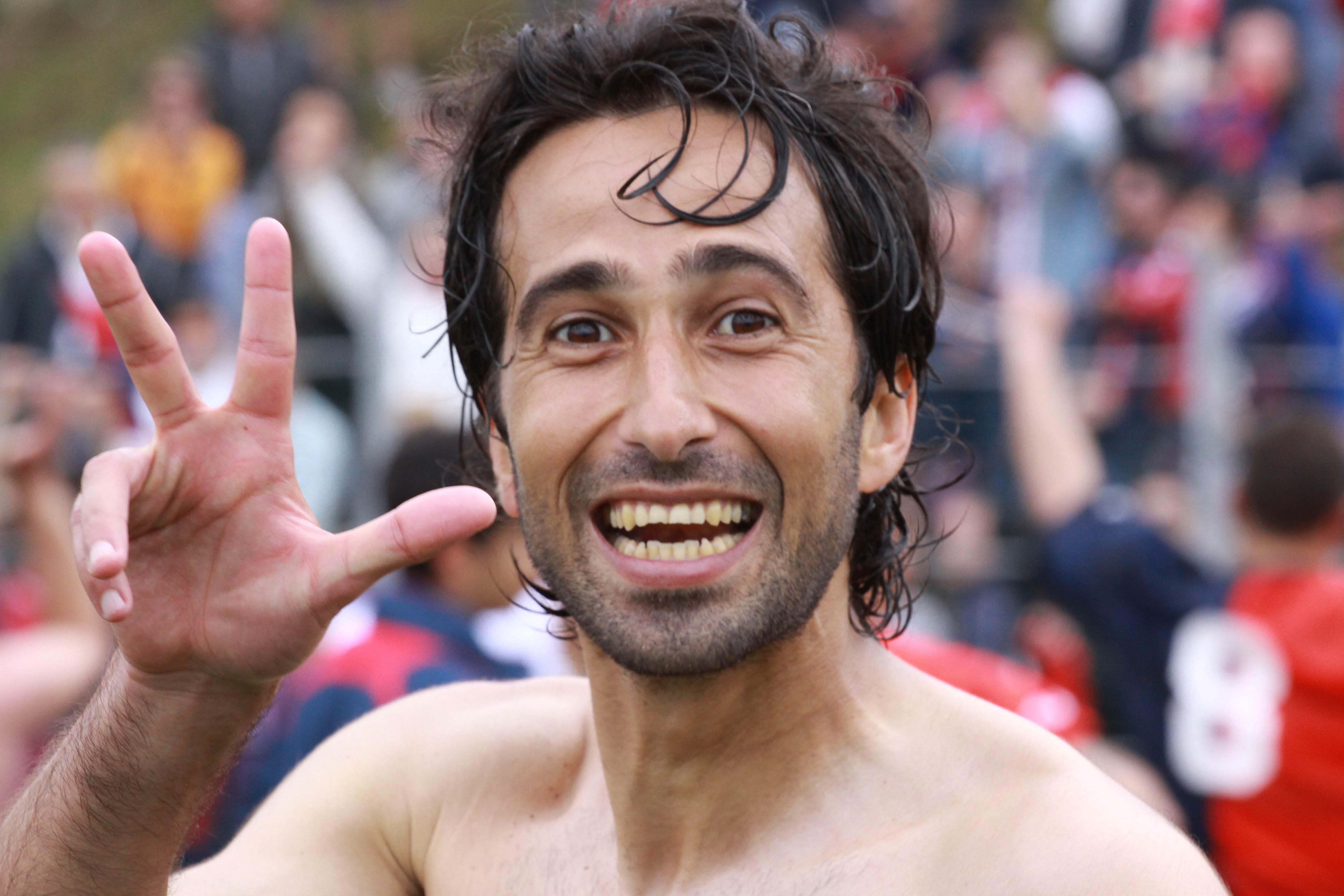 Recanatese-Samb ph Bianchini, Quondamatteo festeggia la terza promozione