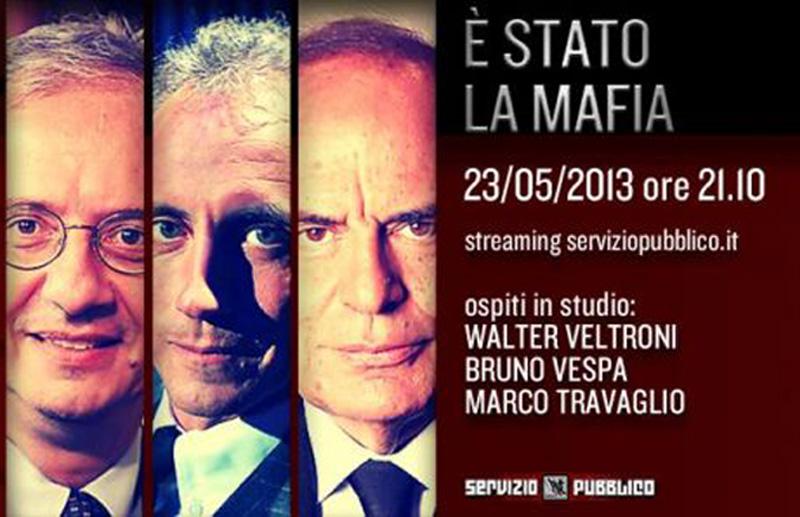 Da sinistra Walter Veltroni, Marco Travaglio, Bruno Vespa