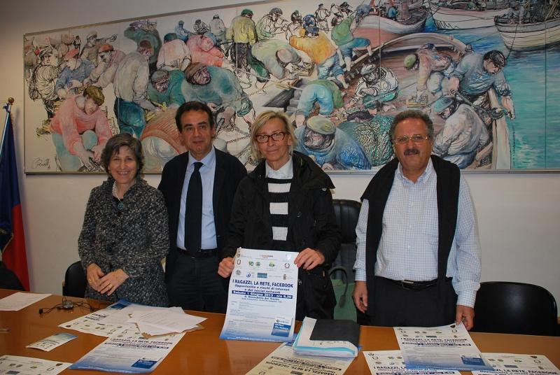 Da destra a sinistra: Maria Pia Silla, Pietro Colonnella, Margherita Sorge, Dante Merlonghi