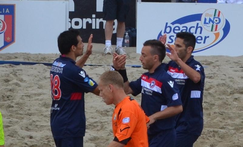 Samb Beach Soccer, un momento della partita