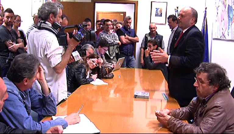 Gaspari incontra la stampa e i tifosi