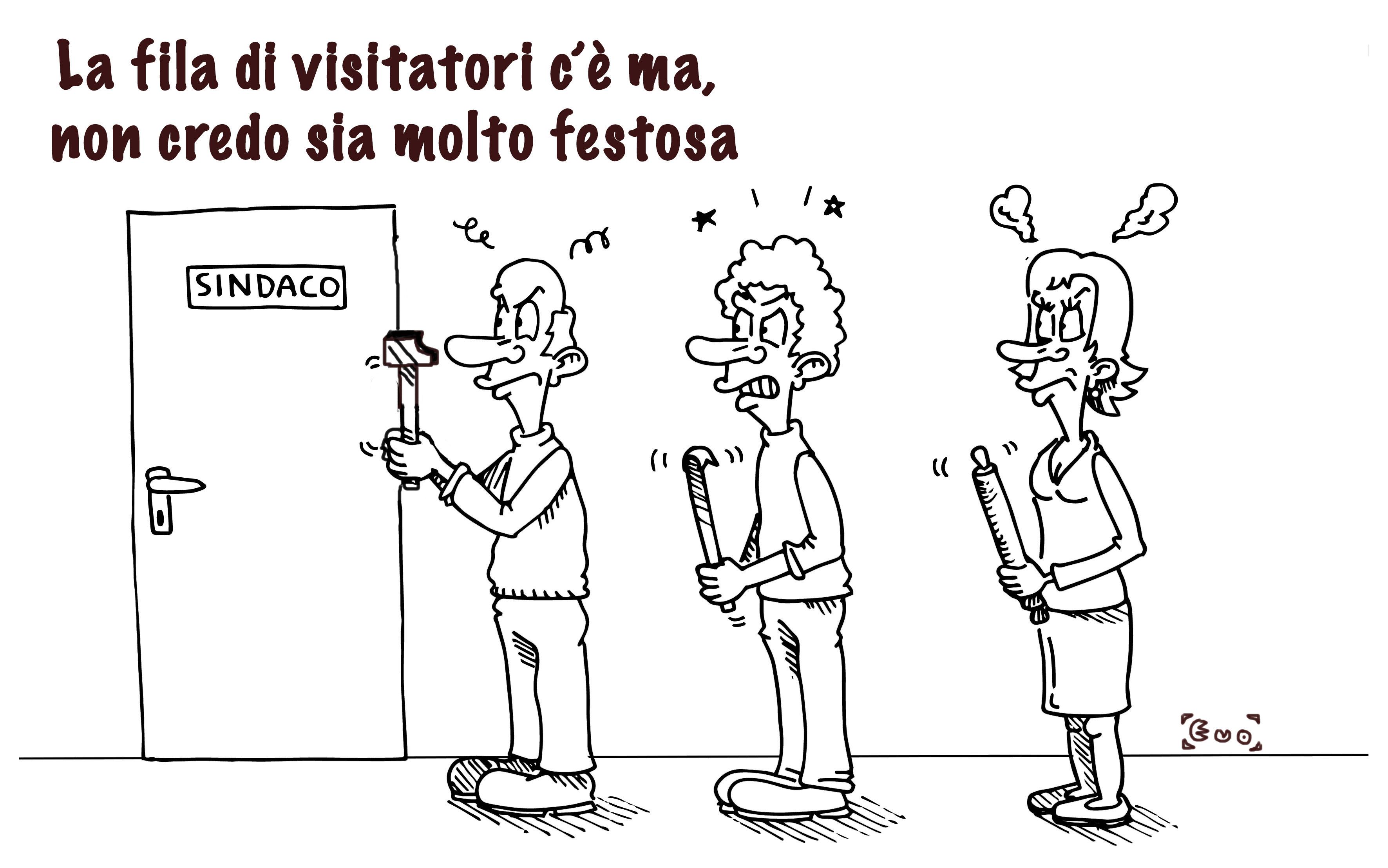 in fila per Gaspari, tra tweet e via Mentana, di Evo