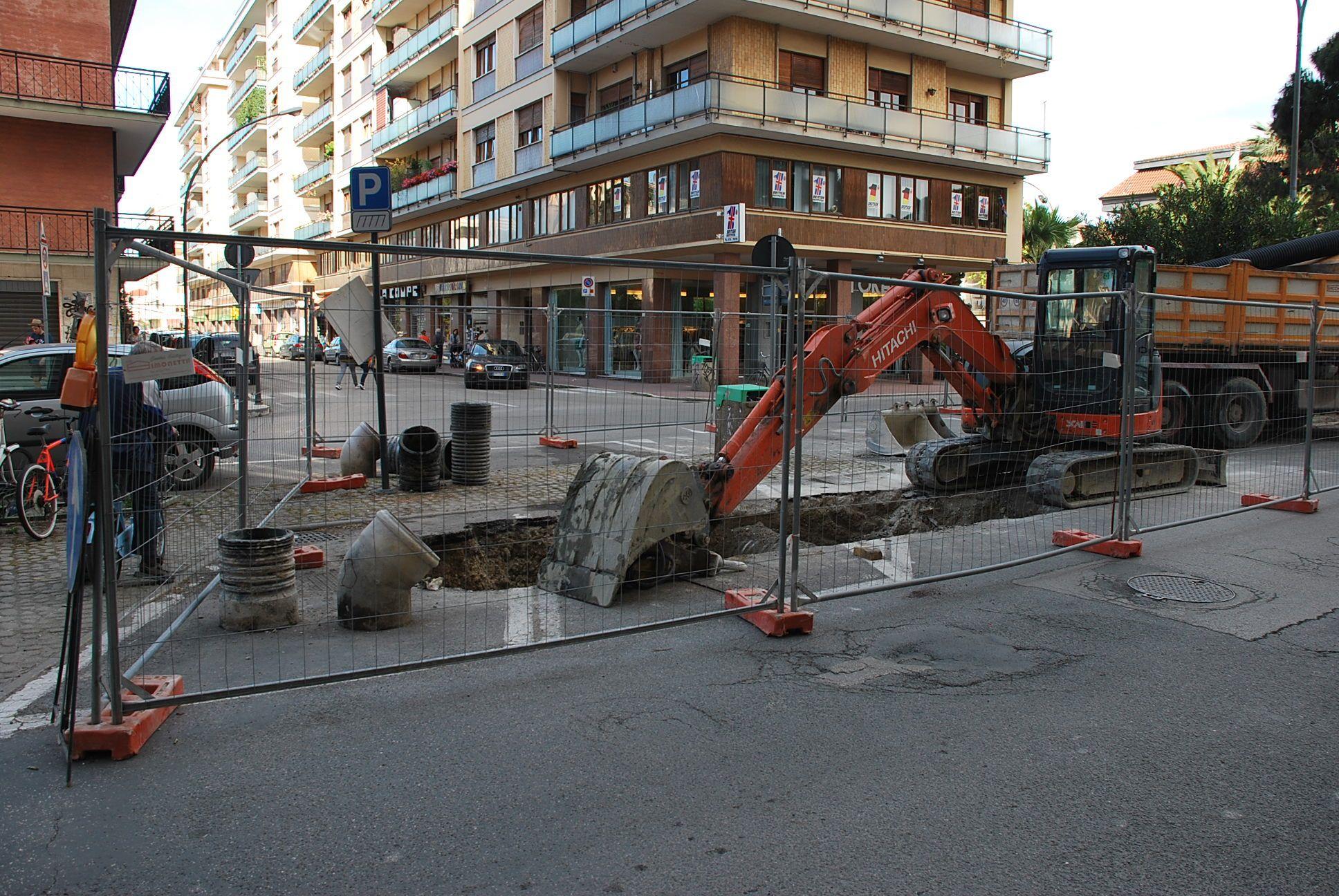 lavori viale De Gasperi