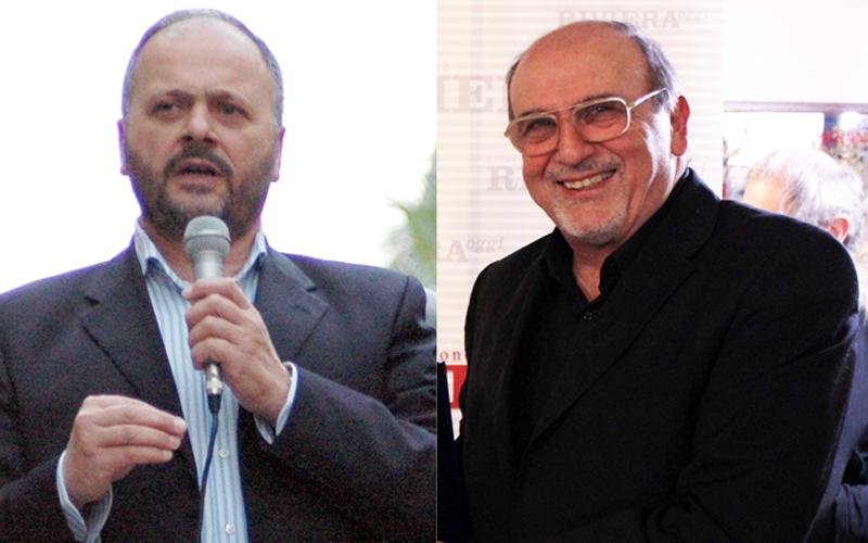 Il sindaco Giovanni Gaspari e il nostro direttore