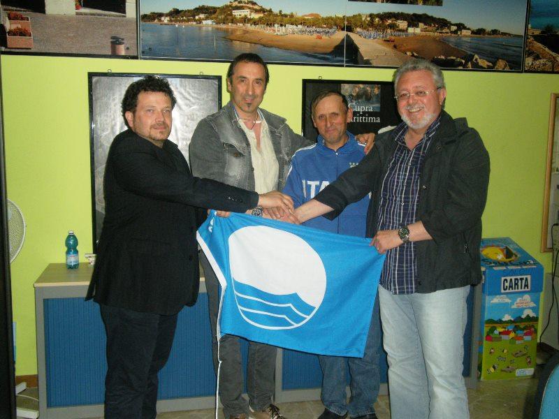 Da sinistra: Pino Neroni, Elio Basili, Alberto Scafà, Marco malaigia
