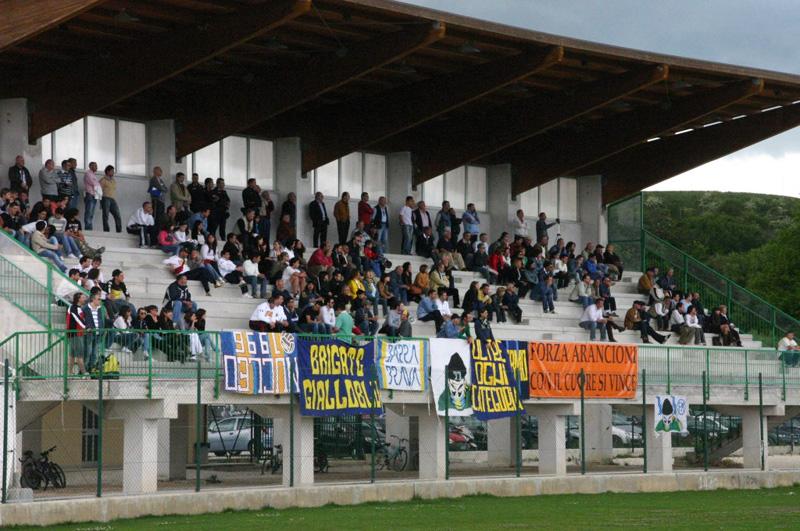 La tribuna centrale dello stadio recanatese