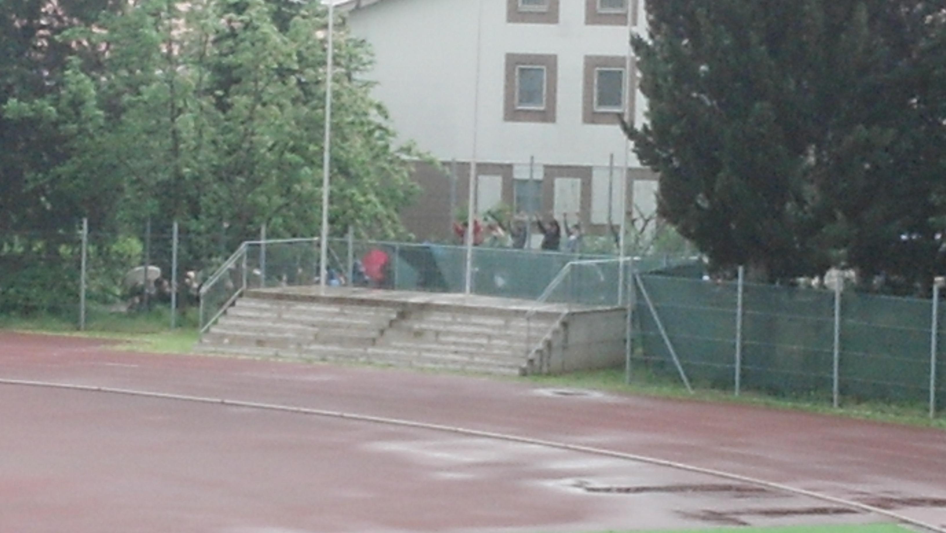 tifosi a Recanati anche fuori dallo stadio