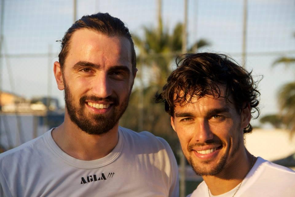 Il tennista Fabio Fognini con Marco Di Paolo