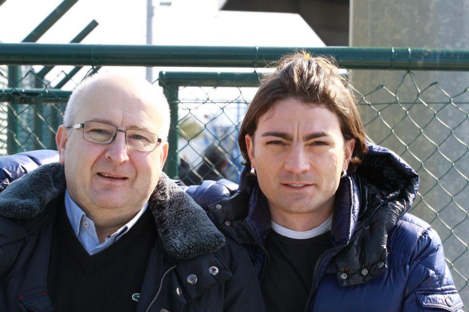 Il presidente del Martinsicuro Calcio Franco Di Felice e il consigliere con delega allo sport Orlando Di Paolo