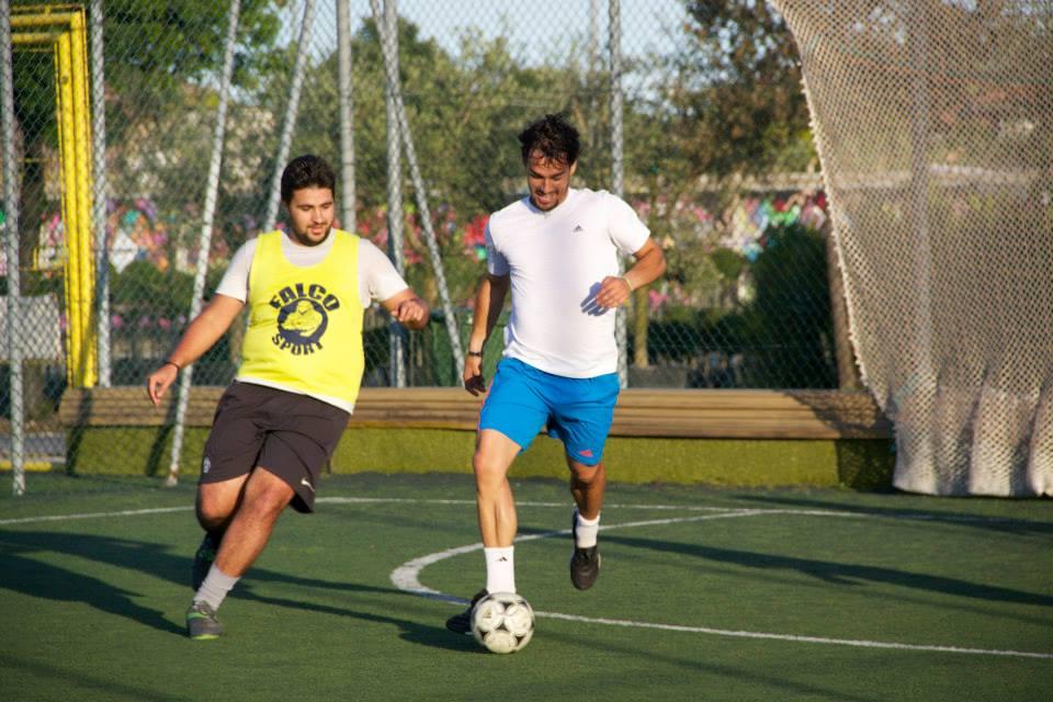 il tennista Fabio Fognini durante la partita di calcetto a Martinsicuro2