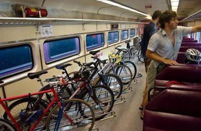 Trasporto di biciclette sul treno