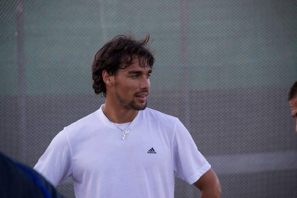 Il tennista Fabio Fognini durante la partita di calcetto a Martinsicuro4