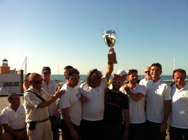 Adriatic Trophy - Un momento della premiazione dell'equipaggio sambenedettese