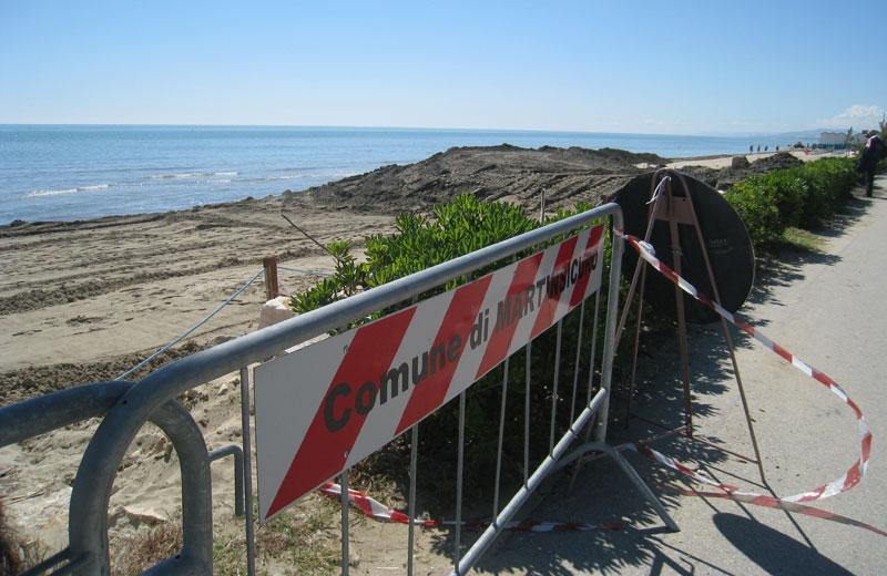 Ripascimento della spiaggia a Villa Rosa