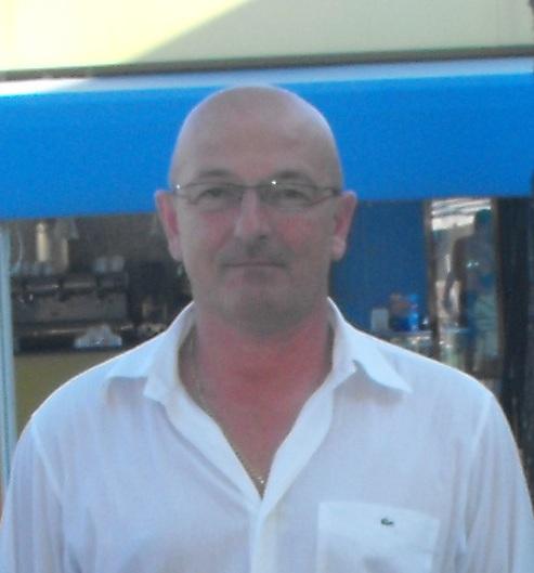 Il presidente del Grottammare calcio Giuseppe Cocci
