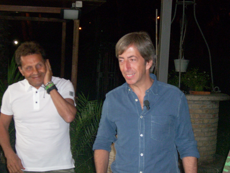 Novellino e il giornalista Sky Ugolini