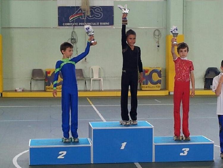 il giovane Kevin Bovara sul podio