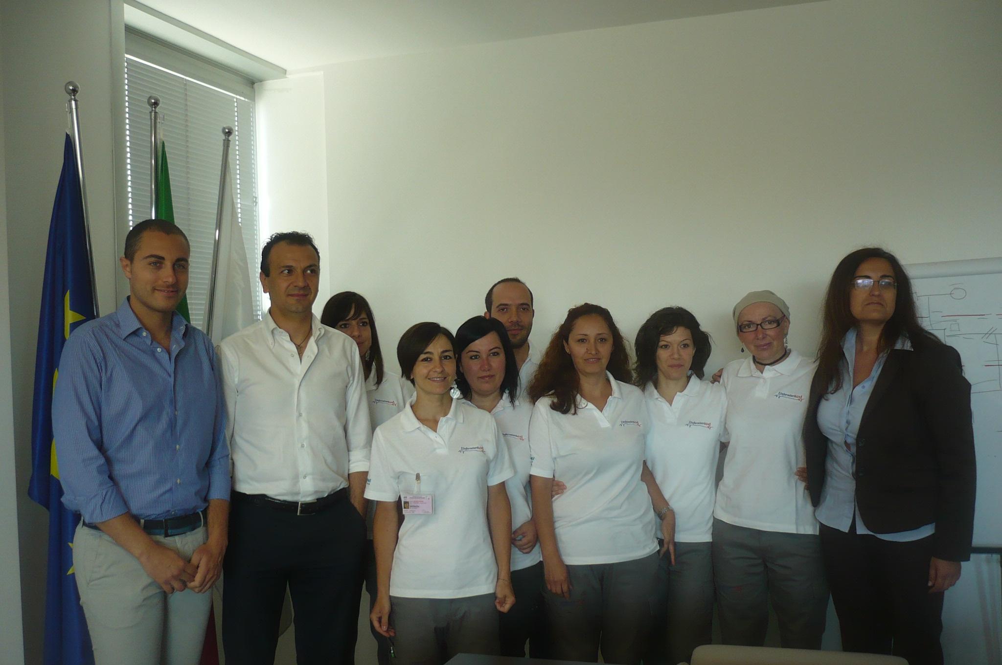 Rappresentanti della cooperativa sociale Infermieri 24h e Confindustria Ascoli Piceno