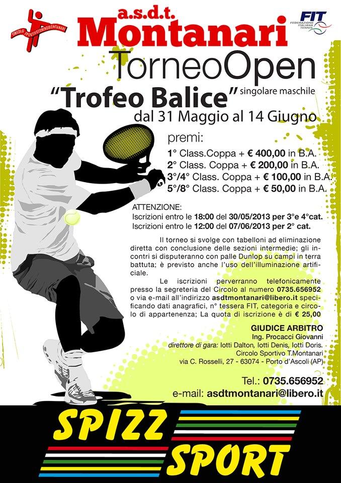 Torneo Open . Trofeo Balice di Tennis.