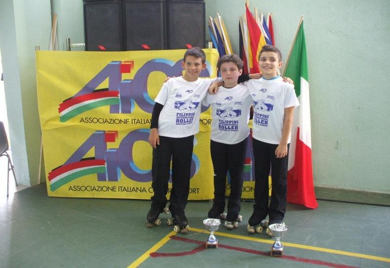 I giovani atleti durante il trofeo internazionale