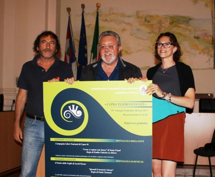 Da sinistra:  Arnaldo Adami, Marco Malaigia, Alessandra Vitali