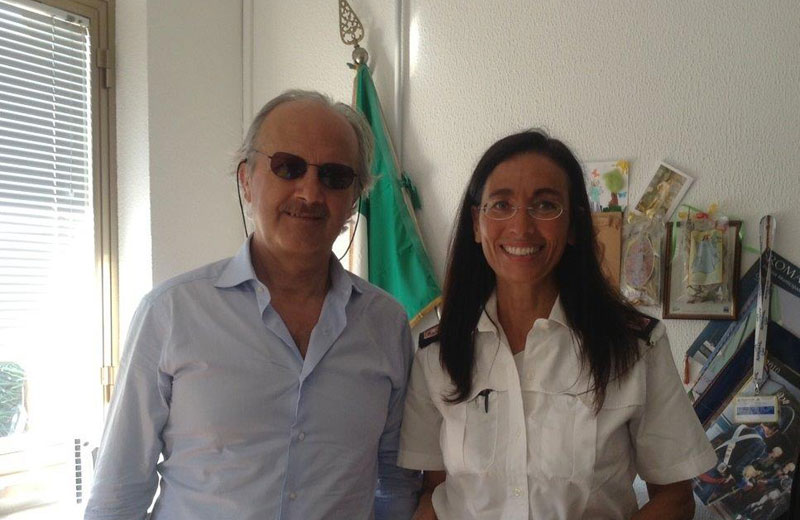 Antonio Di Giovanni e il comandante Sabrina Polletta