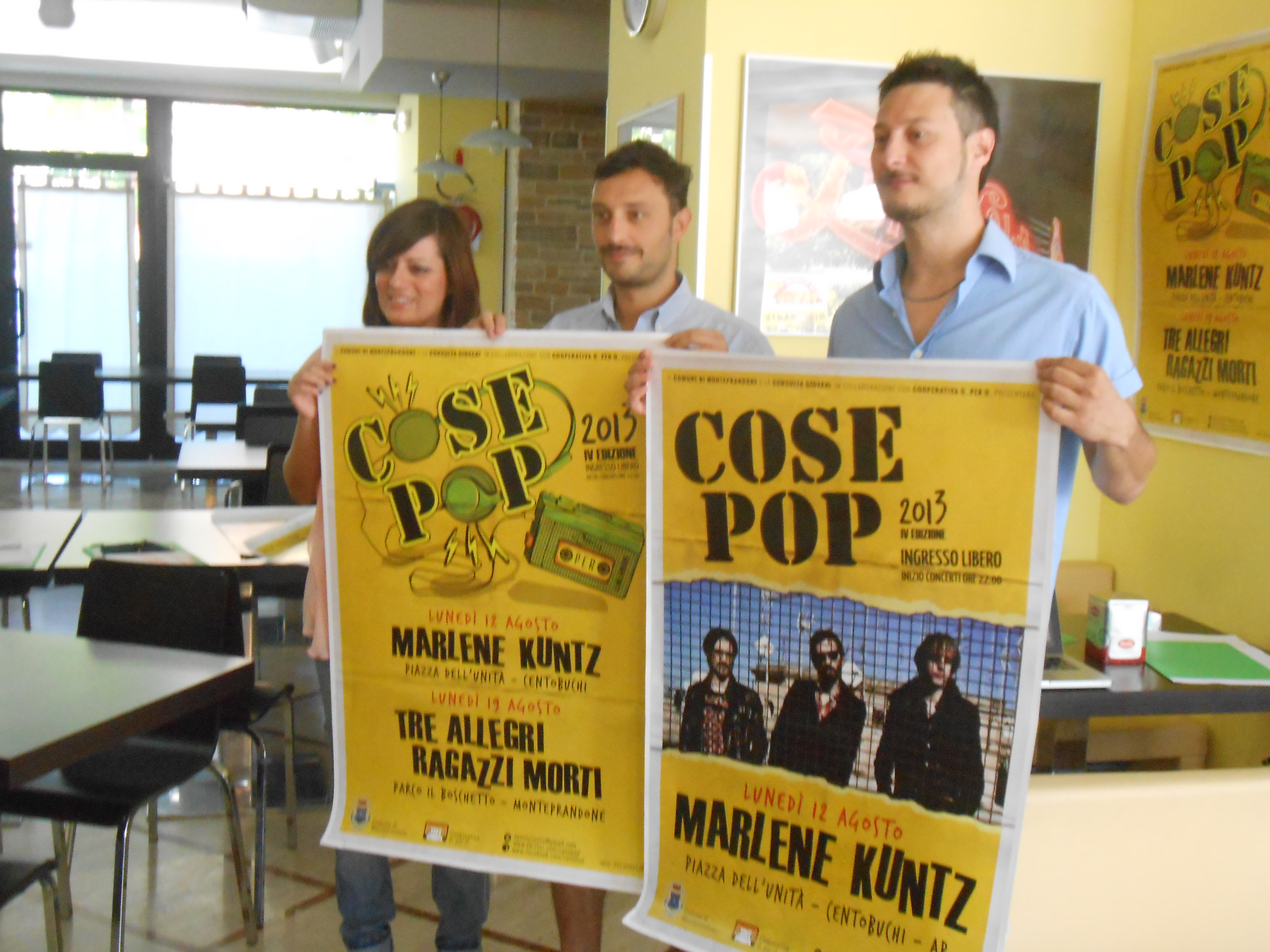 Loriana Capocasa, Federico Aragrande, Paolo Miti alla presentazione di CosePop 2013
