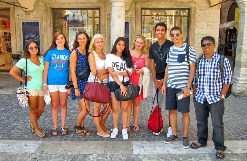 I ragazzi del Campus ad Ascoli Piceno