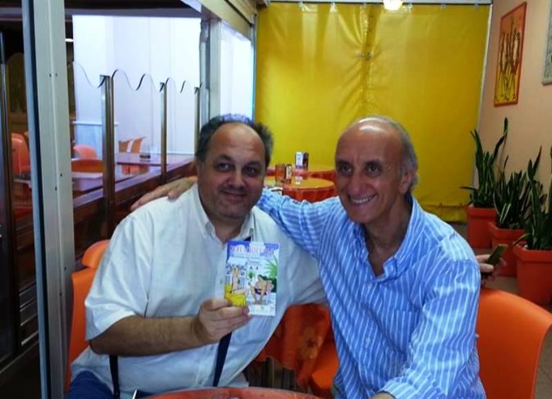 Michele Rossi a sinistra, con Angelo Maria Ricci