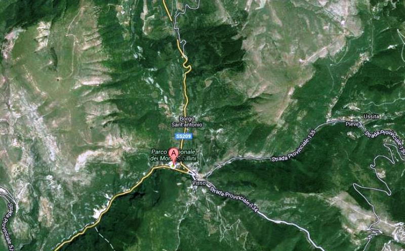 Parco Nazionale dei Sibillini google maps