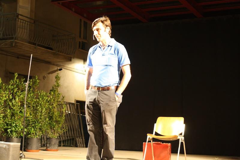 Piero Massimo Macchini sul palco