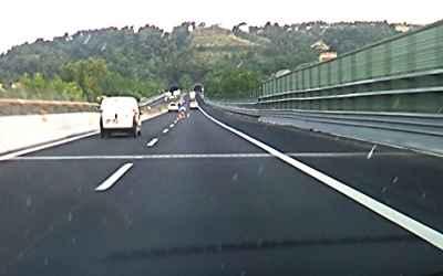 Segnaletica pericolosa sulla A14 2