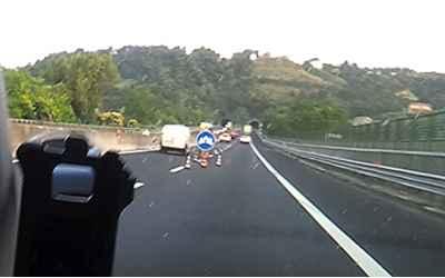 Segnaletica pericolosa sulla A14