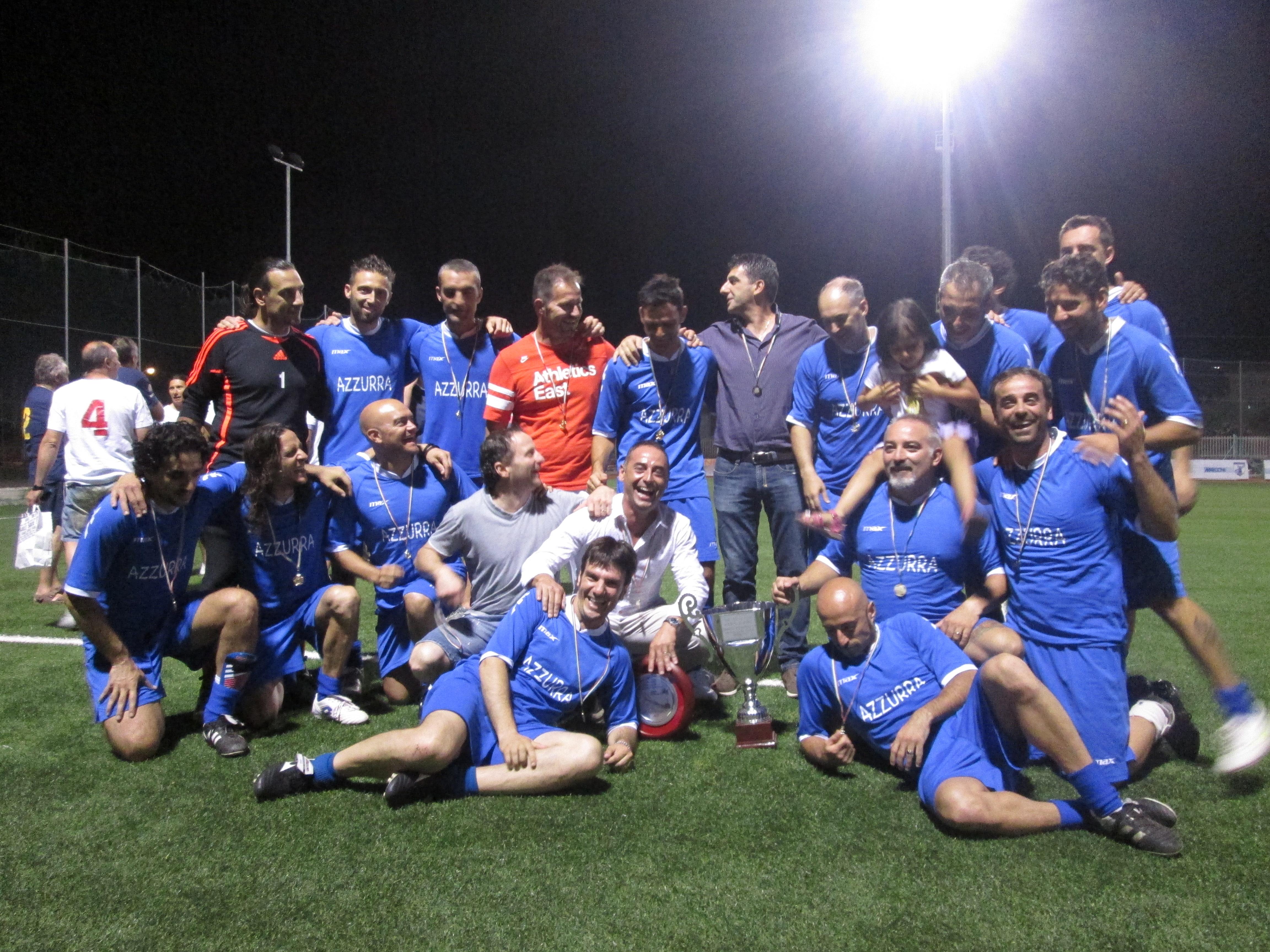 I giocatori dell'Azzurra, vincitrice del torneo