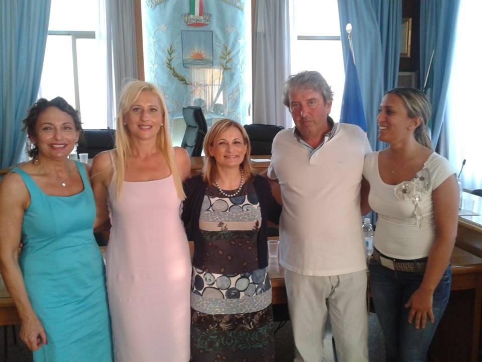 Desiree Del Giovine, il sindaco Tonia Piccioni, Anna Pompilii, Renato Rasicci, Ambra Foracappa