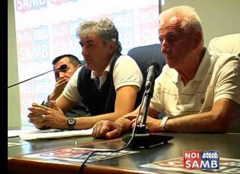 Il presidente di Noi Samb, Guido Barra, con Ferruccio Zoboletti