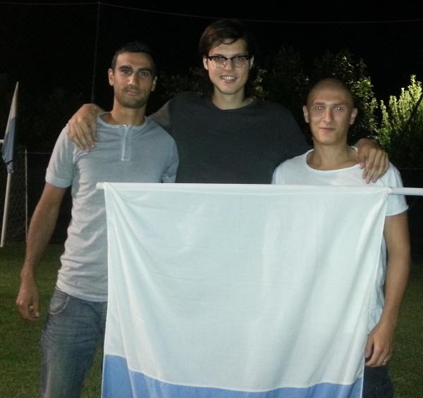 Da sinistra: Cafini, Biancucci e Cacciatori