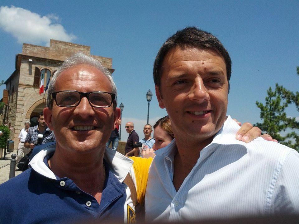 Tonino Capriotti con Matteo Renzi