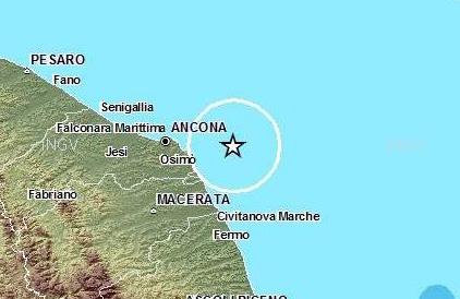 Terremoto nelle Marche, scossa di magnitudo 4.4