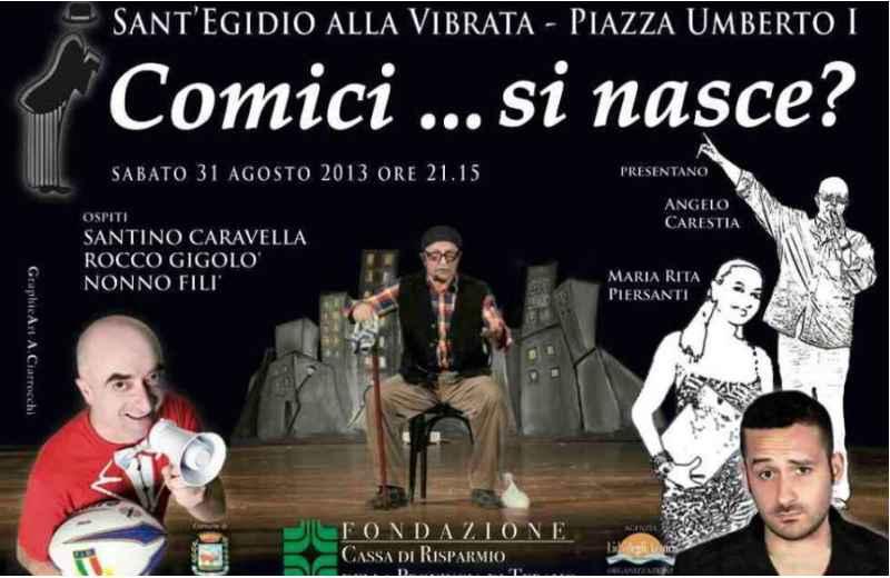 Comici si nasce Locandina evento