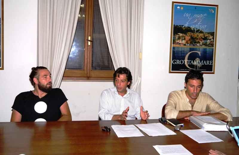Diffusioni Festival. Da sinistra Tomas Orsolini, Enrico Piergallini e Lorenzo Rossi
