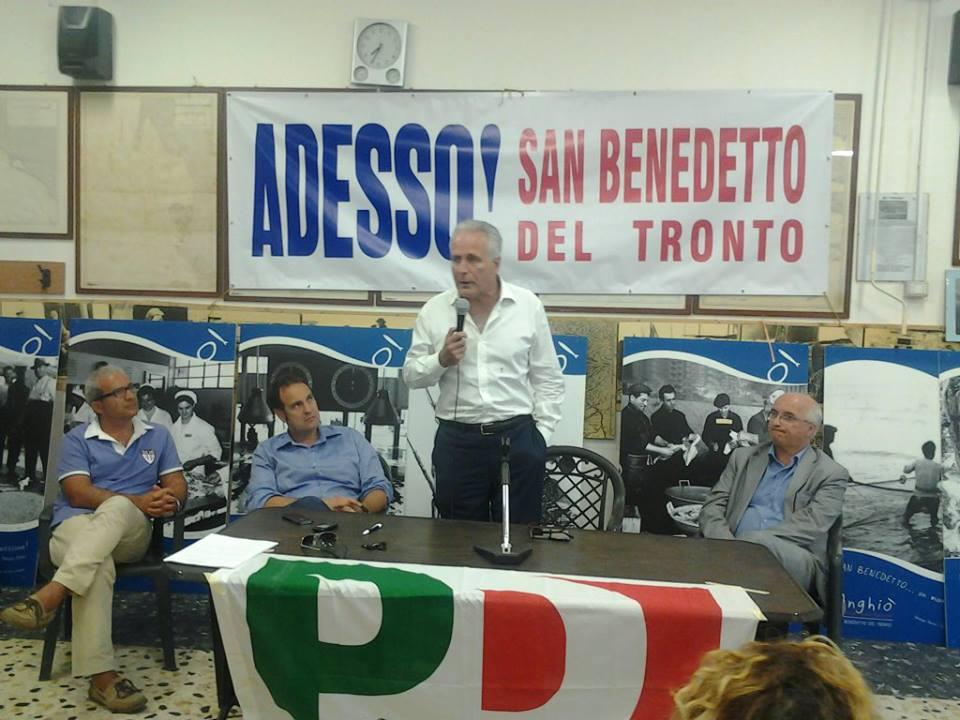 Eugenio Giani durante l'incontro