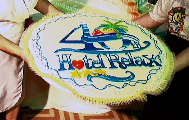 I 40 anni dell'Hotel Relax, una torta