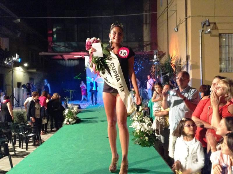Vincitrice Miss Cupra 2013