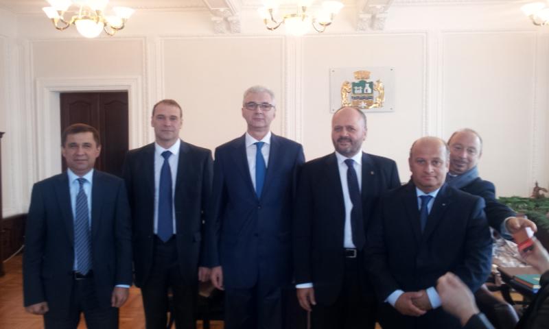con sindaco Ekaterinburg