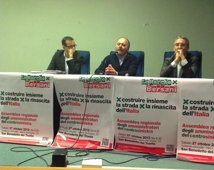 Gaspari nel 2012, quando sosteneva Bersani contro Renzi