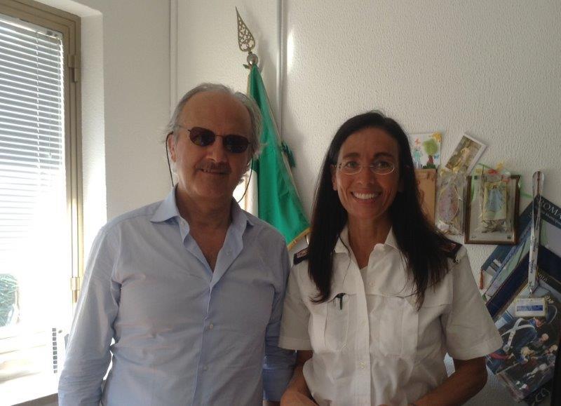 Il delegato alla Sicurezza del Comune di Tortoreto e il comandante dei vigili urbani