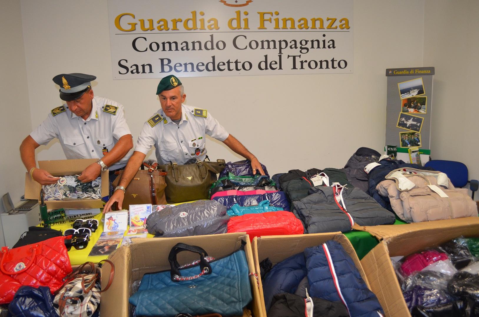 Guardia di Finanza operazione anticontraffazione a San Benedetto