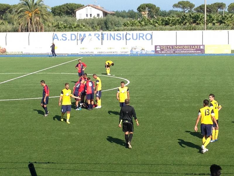 Una fase del match di esordio della Riviera Samb contro la Mariner