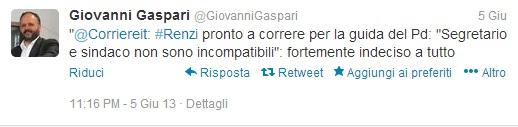I tweet 'anti Renzi' di Gaspari